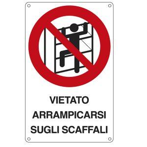 76908 CARTELLO ALLUMINIO 35x12,5cm /'PERICOLO DI CADUTA/'