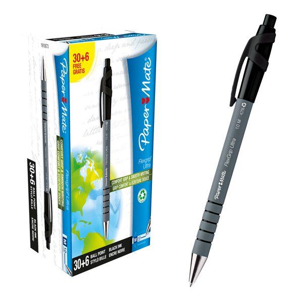 punta fine Paper Mate penne a sfera 0,7mm 50 pezzi Comfort Grip blu